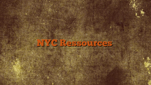 NYC Ressources