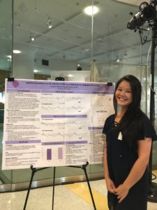 """Nopell Wong (Class of 2018), presenting her research, conducted with her mentor, Dr. Sarah Grey, at the Intersections of Linguistics, Language, and Culture conference in June 2018."""