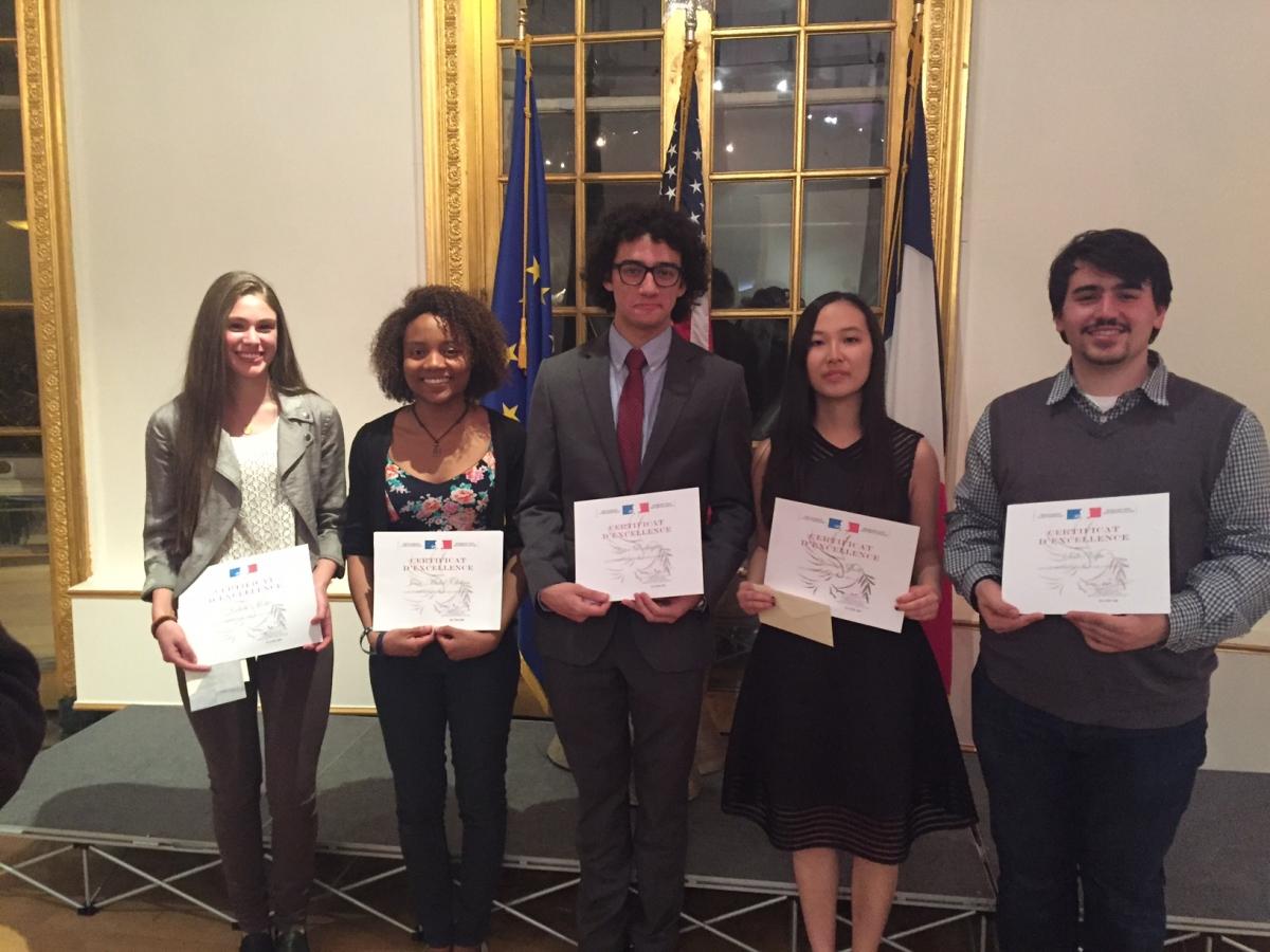 Prix d'éloquence 2016 winners